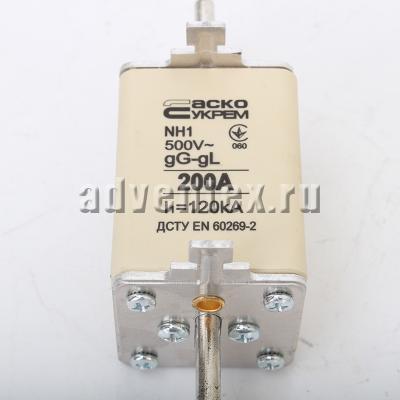 Предохранитель 200а nh1 gL gG 500v l1=120KA фото 1